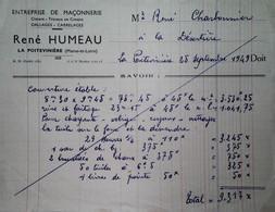 H 1 Facture/document Entete Maçonnerie La Poitevinière - Sin Clasificación