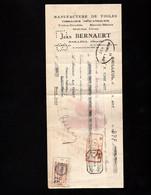 BAILLEUL (Nord) - Lettre De Change 1934 - Manufacture De Toiles - Jean  BERNAERT - Bills Of Exchange