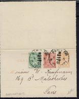 Fr - 1902 - Entier Postal Tricolore Mouchon 15 C + 10 C + Blanc 5 C  De Paris Rue Jouffroy Intra-Muros - TB - - Pneumatic Post