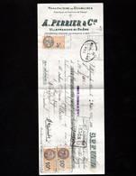 VILLEFRANCHE Sur SAONE (Rhône) - Lettre De Change 1934 - Manufacture De Doublures - A. PERRIER & Cie - Bills Of Exchange