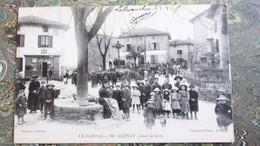 CANTAL / GLÉNAT , Jour De Foire - Marché Aux Bestiaux -vers 1915 -proche Aurillac / Ph. Païta- St-Céré , Éd. Noygues. - Altri Comuni
