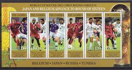Soccer World Cup 2002 - GAMBIA - Sheet MNH - 2002 – Corea Del Sur / Japón