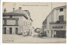 CPA 69 9 SAINT GENIS LAVAL RHONE RUE DES HALLES BF PARIS BOUCHERIE BE - Altri Comuni