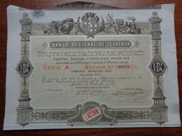 ESPAGNE - IGUALADA 1881 - BANCO REGIONAL DE IGUALADA - ZCTION DE 500 PESETAS , SERIE A - Non Classés