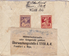 Schweiz Brief Zensur 1917 - Covers & Documents