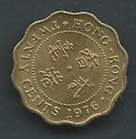 Monnaie  Hong Kong 20 Cents 1976  Pic 5413 - Hong Kong