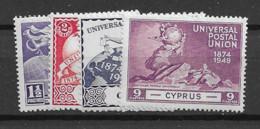 1949 MH Cyprus Michel 159-62 - Cyprus (...-1960)