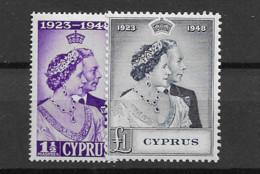 1948 MNH Cyprus Michel 157-58 - Cyprus (...-1960)
