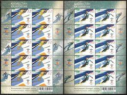 1063 - Kazakhstan - 2010 - Olympic WOG Vancouver - 2 Sheetlets Of 10v - MNH - Lemberg-Zp - Kazakhstan