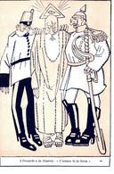 CPA - WW1 WWI Propaganda Propagande - KAISER - Proverbi E La Guerra - Umoristica Satirica, Humour Satirique - NV - KV030 - Oorlog 1914-18