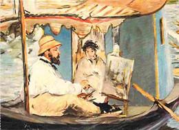 Art - Peinture - Edouard Manet - Claude Monet Dans Son Atelier - Détail - CPM - Voir Scans Recto-Verso - Pittura & Quadri