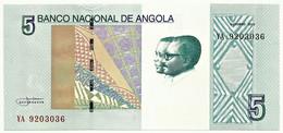 Angola - 5 Kwanzas - 10.2012 ( 2017 ) - Pick 151 A - Unc. - Série YA - José Eduardo Dos Santos E Agostinho Neto - Angola