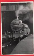LMS  RAILWAY STEAM LOCOMOTIVE TRAIN ENGINE  NO1008 AT ST PANCRAS STATION LONDON UK - Trains