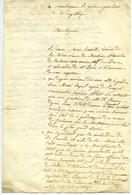 Brouillon De Lettre à Bonaparte Prince-Président. Veuve De Stanislas De Centenier Et Soeur De Militaires Morts En Russie - Manuscripts