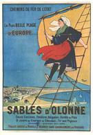 """VIEILLE AFFICHE PUBLICITAIRE Des Chemins De Fer   """"Sables D'Olonne""""   CPM MIC MAX - Trains"""