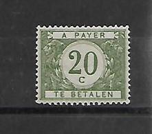 België  Tax N° 28A  Xx Postfris  Cote 30 Euro - Stamps