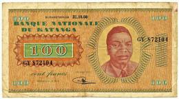 Katanga - 100 Francs - 31.10.1960 - Pick 8.a - Serie GY - Moise Tshombe - Otros – Africa