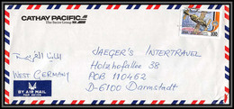 2043 Espace (space Raumfahrt) Lettre (cover Briefe) Syrie (syria) To Germany Cathay Pacific Apollo Soyuz (soyouz)1987 - Asia