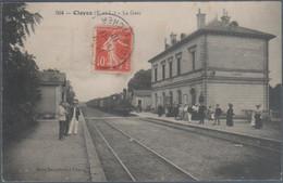 Cloyes , Train En Gare , Animée - Cloyes-sur-le-Loir
