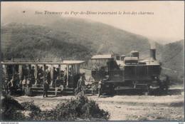 Tramway Du Puy De Dome Traversant Le Bois Des Charmes , Animée - Zonder Classificatie