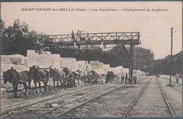 Saint Vaast Les Mello , Les Carrières , Chargement De La Pierre , Animée - Andere Gemeenten