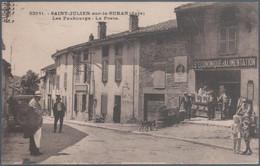 Saint Julien Sur Le Suran , Les Faubourgs , La Poste , Société économique D' Alimentation , Animée - Andere Gemeenten