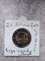 Lot De 2 Pièces De 2€ Commémoratives UNC Lettonie 2014 Riga Et Lettonie 2019 Armoiries De La Lettonie - Latvia