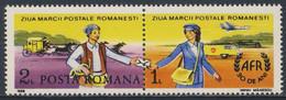 Romania Romana Rumänien 1988 Mi 4808 YT 3819A SG 5206 ** Briefträger (19. Jh.), Postkutsche / Postal Services + Zierfeld - Post