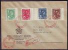 YUGOSLAVIA  - JUGOSLAVIJA  - CONGRESS POST - P.T.T. - TELEPHONE - FLAGS - RERCOM. FDC - 1946 - RARE - Post