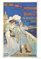 """VIEILLE AFFICHE PUBLICITAIRE Des Chemins De Fer   """"The Paris Lyons""""    CPM MIC MAX - Trains"""