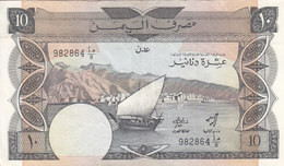 YEMEN YDR 10 DINARS 1984 P-9a EF HIGH GRADE VERY CRISP */* - Yemen