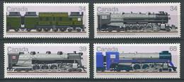 299 CANADA 1986 - Yvert 978/81 - Locomotive Train - Neuf ** (MNH) Sans Charniere - Unused Stamps