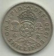 E-2 Shillings 1950 Inglaterra - D. 1 Penny
