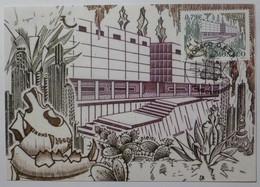 MUSEE ANTHROPOLOGIE MONACO Et GROTTE OBSERVATOIRE - Carte Philatélique Monaco Avec Cachet 1er Jour - Museen