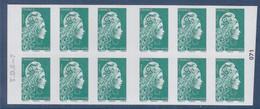 Marianne L'Engagée Carnet Lettre Verte X12 Le Plus Beau Timbre De L'année 2020 à Droite 071 Et T.D.6-7 à Gauche - Usados Corriente