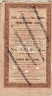 Titre Ancien - Société Des Chemins De Fer De Namur à Liège Et De Mons à Manage - Titre De 1858 -  Rare - - Railway & Tramway