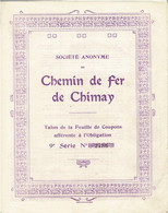 Obligation Ancienne - Chemin De Fer De Chimay - Titre De 1876 - - Railway & Tramway