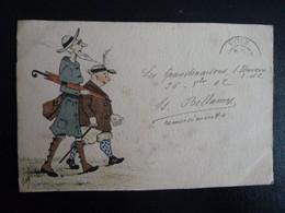 CPA Dessinée Main Ro/Vo Signée Isa Bellamy 1902 Chateau De Grandmaisons Unverre 28 - Promenade En Campagne - Andere Zeichner