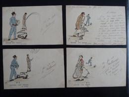 CPA Dessinée Main Ro/Vo Signée Isa Bellamy 1902 Chateau De Grandmaisons Unverre 28 - Serie Arroseur Arrosé (4 CPA) - Andere Zeichner