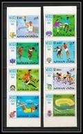 112c - Ajman - MNH ** N° 247 / 254 B Jeux Olympiques (olympic Games) Mexico 68 Football (Soccer) Non Dentelé (Imperf) - Ajman