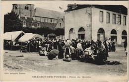 CPA CHAMBON-sur-VOUEZIE Place Du Marché MARKET MARCHÉ (809614) - Chambon Sur Voueize