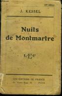 """Nuits De Montmartre,Collection """"Le Livre D'aujourd'hui"""". - Kessel Joseph - 1932 - Unclassified"""