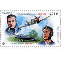 France 2021 Pierre Clostermann 1921 2006 Claire Roman 1906 1941 Pilot Aviator 1v Mnh - Unused Stamps