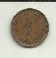 E-1/2 Centime 1970 Rodésia - Rhodesia