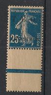 Syrie - 1919 - N°Yv. 7 - Semeuse 2pi Sur 25c Bleu - Bord De Feuille - Neuf Luxe ** / MNH / Postfrisch - Ungebraucht