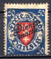 DANTZIG - (Ville Libre) - 1924-25 - Service - N° 46 -  50 P. Bleu-violet Et Vermillon - Danzig