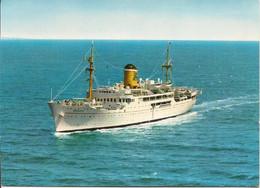 """BAT.511 - Paquebot """"Adriatica"""" En Navigation - Societa Di Navigazione Venezia - Steamers"""