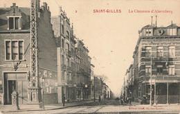 SAINT-GILLES - La Chaussée D'Alsemberg - Carte Circulé 1917 Avec Cachet Militaire Allemand - St-Gilles - St-Gillis