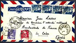 STRASBOURG 1949 POUR LE CAIRE (ÉGYPTE) - PAR AVION - GANDON - Cartas