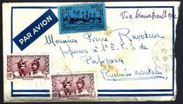 MARTINIQUE - 1940 - POUR PERPIGNAN - PAR AVION - CENSURE - Cartas